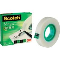 Teippi Scotch Magic 810 12mm x 33m - kasvi- ja kierrätysmateriaaleja sisältävä teippi