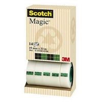 Teippi Scotch Magic 810 19mm x 33m/14 kpl pkt - kasvi- ja kierrätysmateriaaleja sisältävä teippi