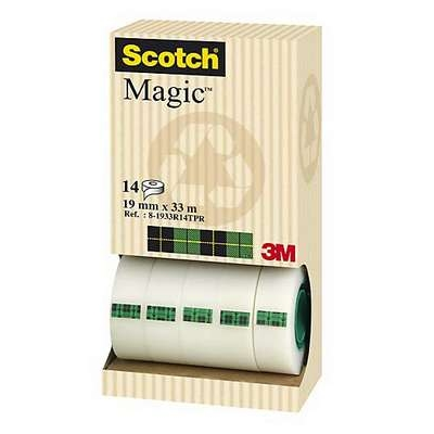 Teippi Scotch Magic 810 19mm x 33m/14 kpl hyllypakkaus