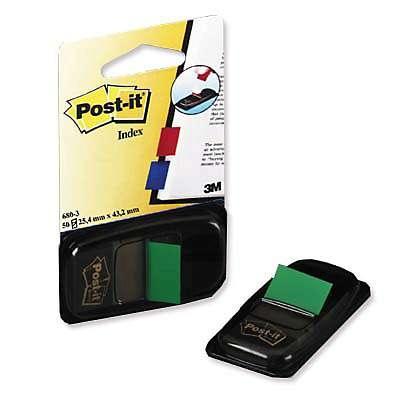 Teippimerkki Post-it 680-3 vihreä/2x50