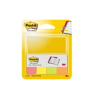 Merkkaaja Post-it 670-4N 20X38mm 4 väriä