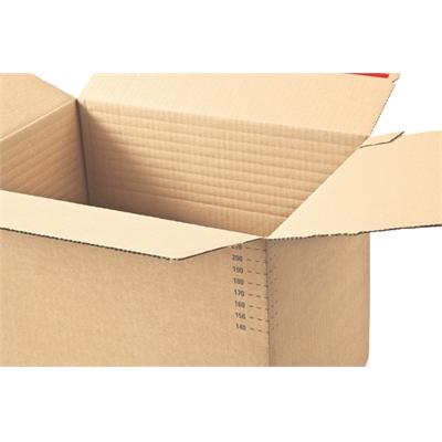 Pahvilaatikko ColomPac CP141 A4 säädettävä 304x216x130-220mm - tarrasuljenta ja repäisynauha