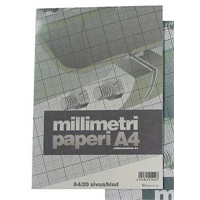 Millimetrilehtiö A4/20 oranssi - millimetripaperi tarkkaan piirtämiseen