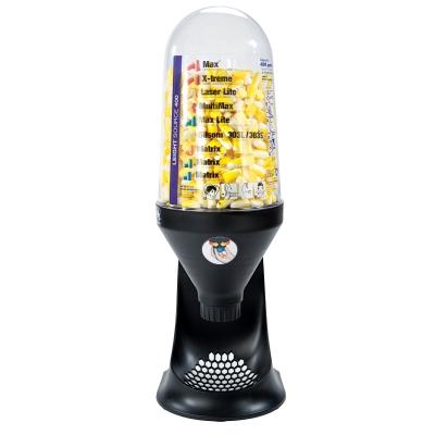 Korvatulppa-automaatti koko L (sis. 400 kpl L-tulppia)