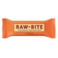 Rawbite Cashew luomu 50g /12 kpl ltk - vegaaninen, maidoton, gluteeniton, ei lisätty sokeria