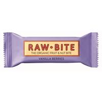 Rawbite Vanilla Berries luomu 50g /12 kpl ltk - vegaaninen, maidoton, gluteeniton, ei lis. sokeria