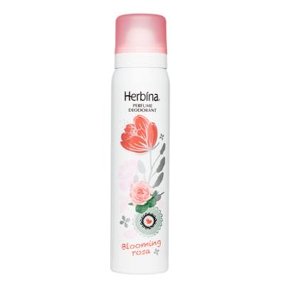 Parfyymideodorantti Herbina Blooming Rosa 100ml - ihoystävällinen ja alumiiniton deodorantti