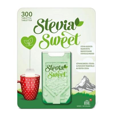Makeutustabletti SteviaSweet /300 kpl - kaloriton kasvipohjainen makeutusaine, myös diabeetikoille