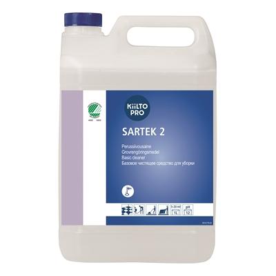 Perussiivousaine Kiilto Sartek 2 / 5 l - myös öljy- ja rasvalian poistoon, voimakkaasti emäksinen
