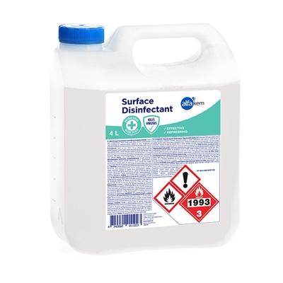 Pintadesinfiointiaine 4L - kotimainen valmis liuos elintarviketeollisuuden pinnoille