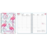 Ontime A5 Flamingo 2019 pöytäkalenteri
