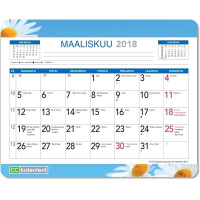 Hiirimattokalenteri 2018 kukka