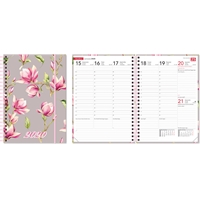 Ontime A5 Magnolia 2020 pöytäkalenteri - CC Kalenteripalvelu