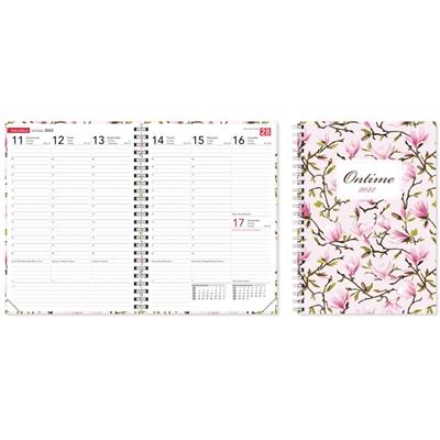 Ontime A5 Magnolia 2022 pöytäkalenteri - CC Kalenterit