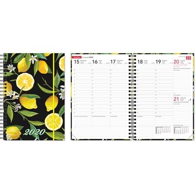 Ontime A5 Lemon 2020 pöytäkalenteri - CC Kalenteripalvelu