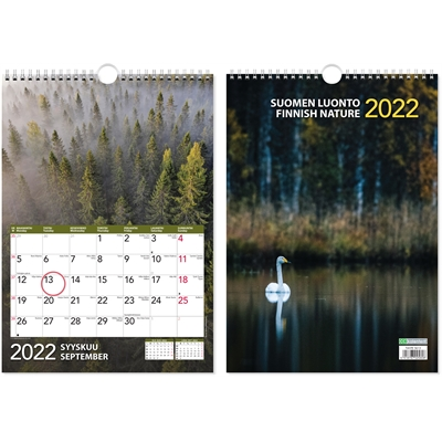 Suomen luonto 2022 seinäkalenteri - CC Kalenterit