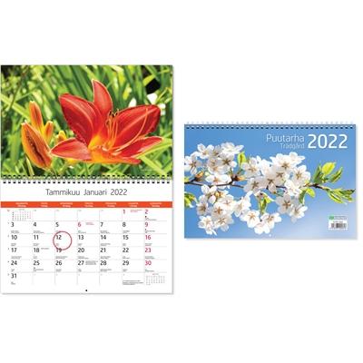 Puutarha 2022 seinäkalenteri - CC Kalenterit