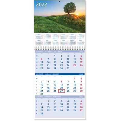 Triplanner pieni 2022 seinäkalenteri - CC Kalenterit