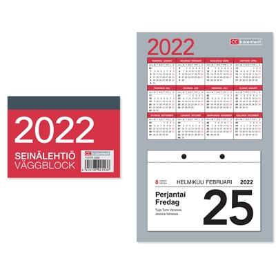 Seinälehtiö  2022 seinäkalenteri - CC Kalenterit