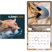 Eläimet 2019 seinäkalenteri