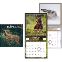 Eläimet 2020 seinäkalenteri - CC Kalenteripalvelu