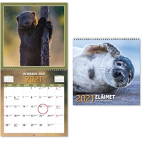Eläimet 2021 seinäkalenteri - CC Kalenterit