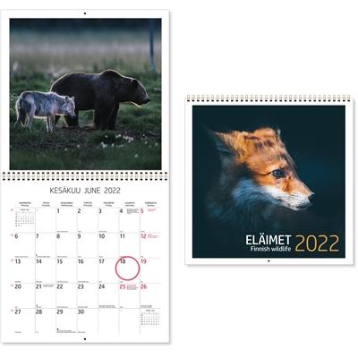 Eläimet 2022 seinäkalenteri - CC Kalenterit