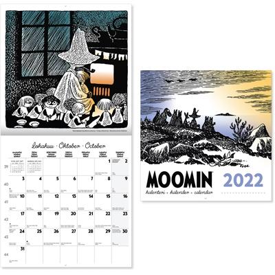 Muumi 2022 seinäkalenteri - CC Kalenterit