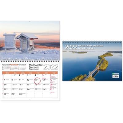 Suomalaisia maisemia 2022 seinäkalenteri - CC Kalenterit