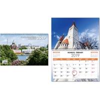 Kaupunkimaisemia Suomesta 2019 seinäkalenteri