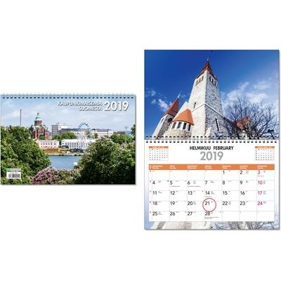Kaupunki 2018 seinäkalenteri