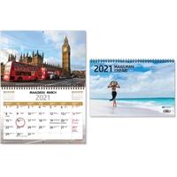 Maailman ympäri 2021 seinäkalenteri - CC Kalenterit