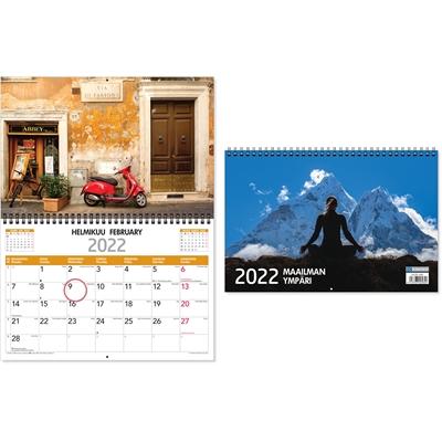 Maailman ympäri 2022 seinäkalenteri - CC Kalenterit