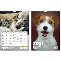Lemmikit 2021 seinäkalenteri - CC Kalenterit