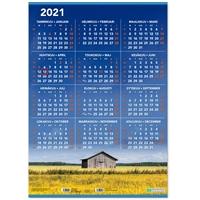 Vuosijuliste ripustuslistoin 2021 taulukkokalenteri - CC Kalenterit