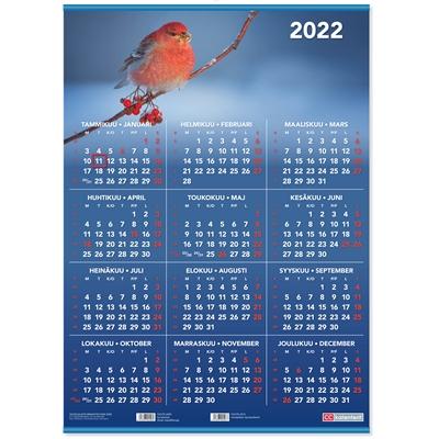 Vuosijuliste ripustuslistoin 2022 taulukkokalenteri - CC Kalenterit
