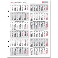 Vuositaulukko 2020-2021 taulukkokalenteri - CC Kalenteripalvelu