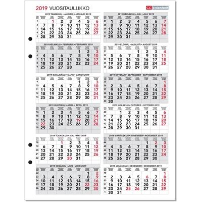 Vuositaulukko 2018-2019