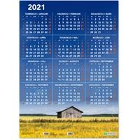 Vuosijuliste 2021 taulukkokalenteri - CC Kalenterit