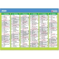 Vuosialmanakka 2020 taulukkokalenteri - CC Kalenteripalvelu