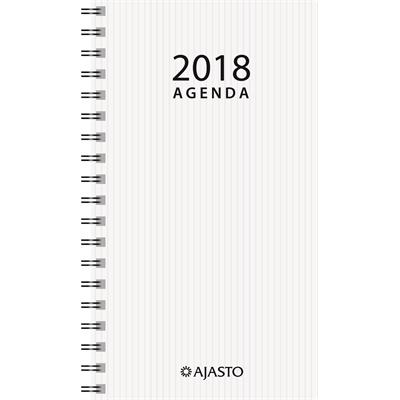 Agenda Eko 2018 valkoinen taskukalenteri