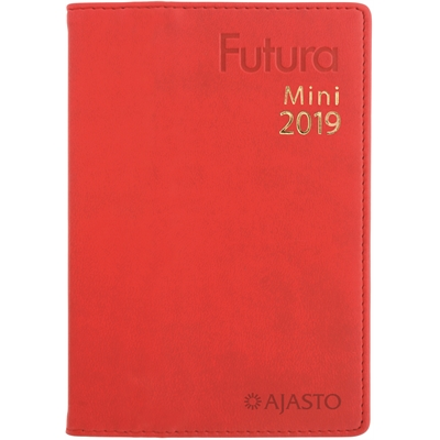 Futura Mini 2018 punainen taskukalenteri