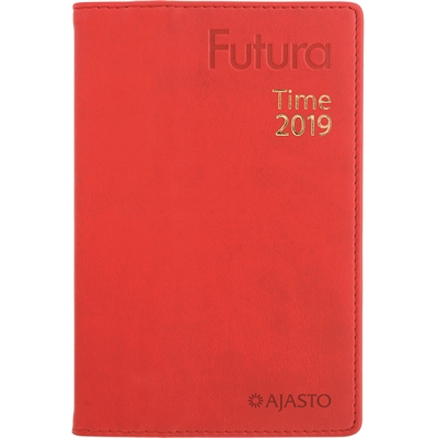 Futura Time 2018 punainen taskukalenteri