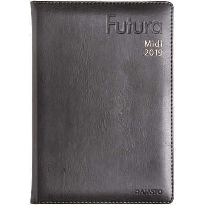 Futura Midi 2018 musta pöytäkalenteri