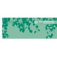 Vihreä Memo-viikkomuistio 2021 pöytäkalenteri - Ajasto