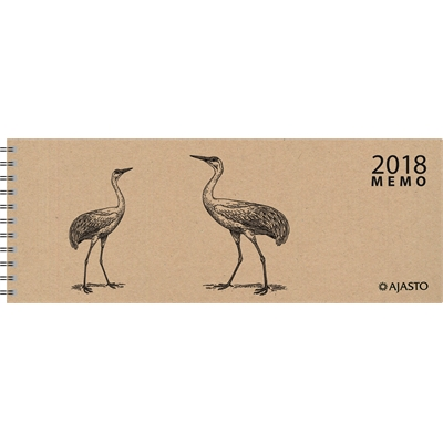 Memo Eko 2018 beige pöytäkalenteri