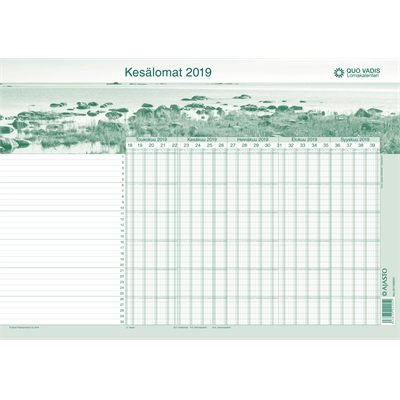 Quo Vadis-lomakalenteri 2018-2019/5 kpl