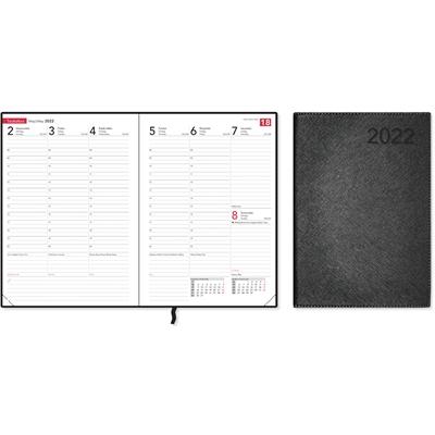 Compact Trend, black 2022 pöytäkalenteri - CC Kalenterit