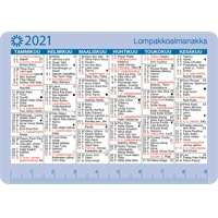 Lompakkoalmanakka 2021 taskukalenteri - Ajasto