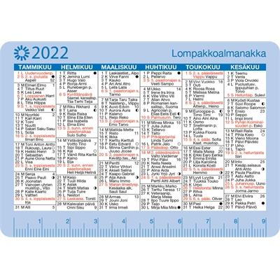 Lompakkoalmanakka 2022 taskukalenteri - Ajasto